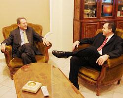 Gustavo Ick junto al periodista Mariano Grondona