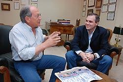 Gustavo Ick junto a Hector Farina