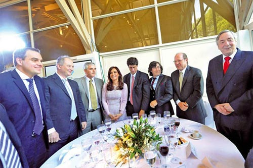 Néstor Kirchner junto a Gustavo Ick
